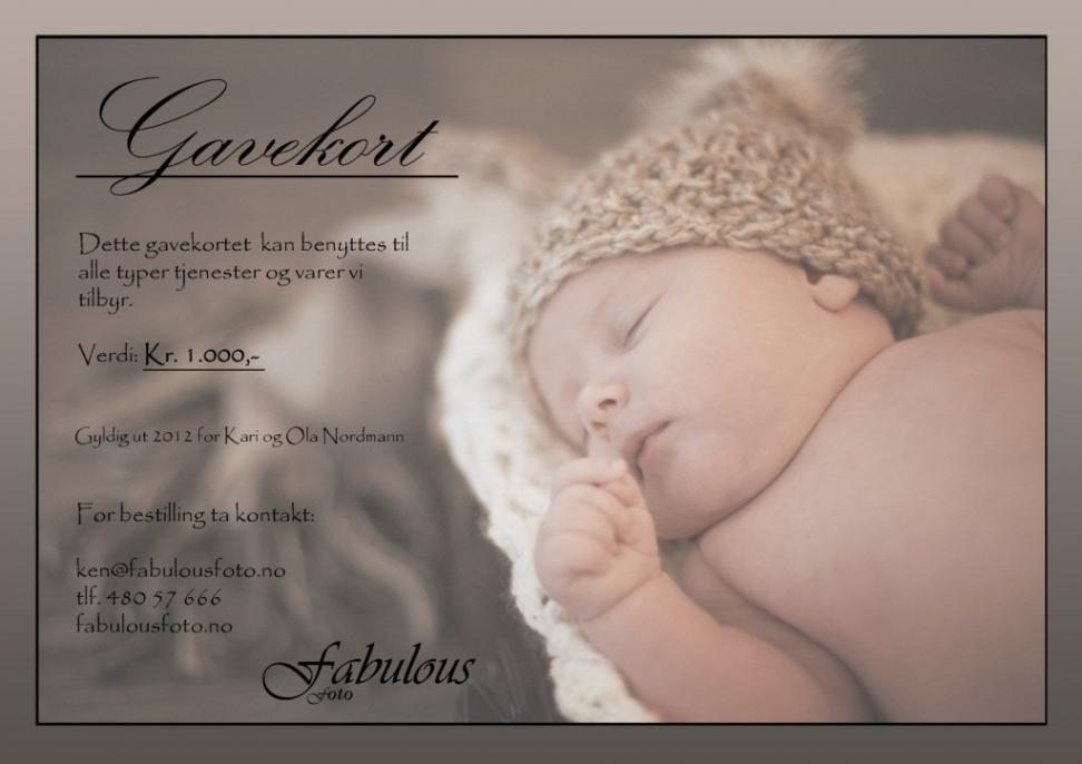 Gavekort, barnebilder, bryllupsfotografering, babyfotografering, barnefotografering, sarpsborg, fredrikstad